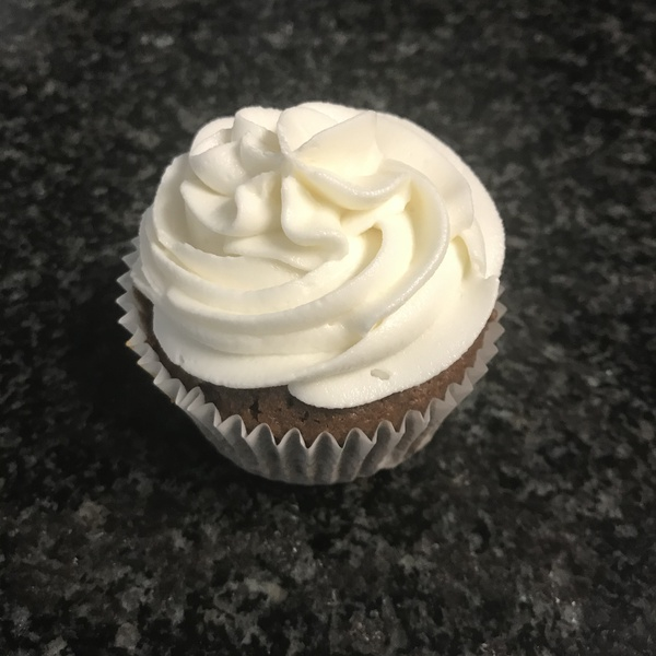 Chocolate cupcake with butter cream frosting picture