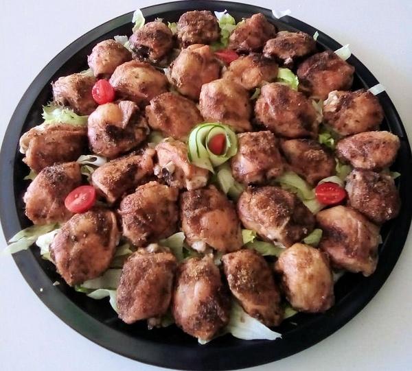 Roast chicken platter picture