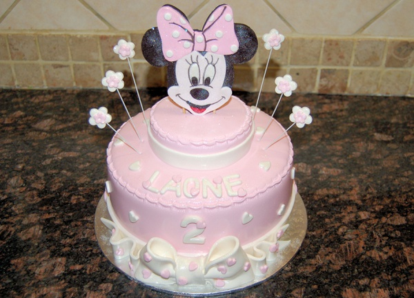 Minnie mouse birthday cake picture