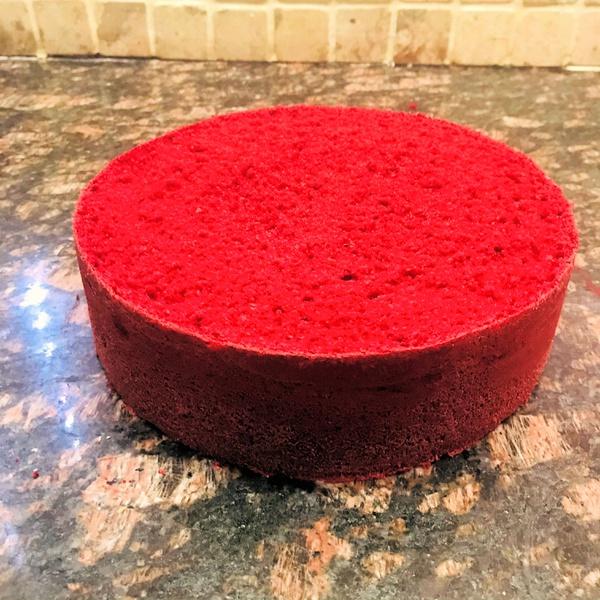 Red velvet sponge cake 20cm round picture