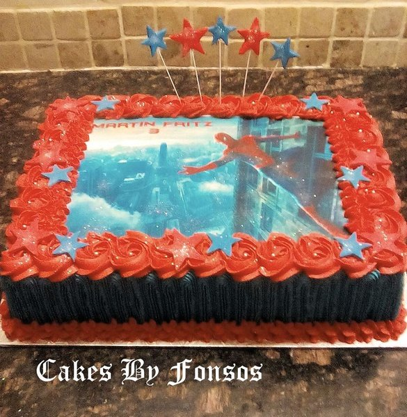Spiderman cake picture