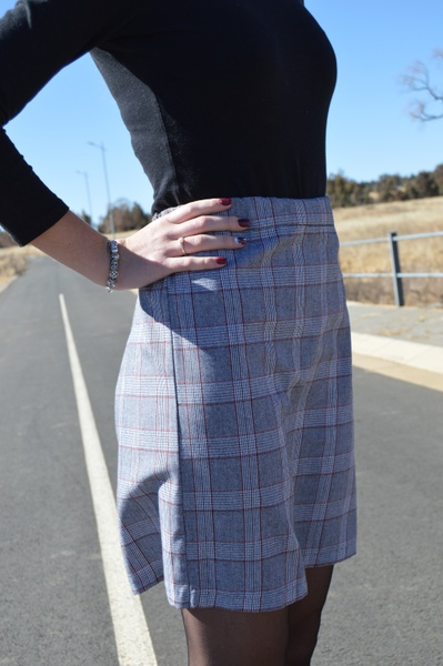 Check skirt picture