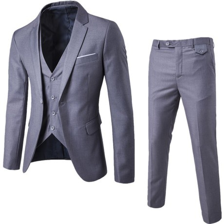 3 piece slim fit suits picture