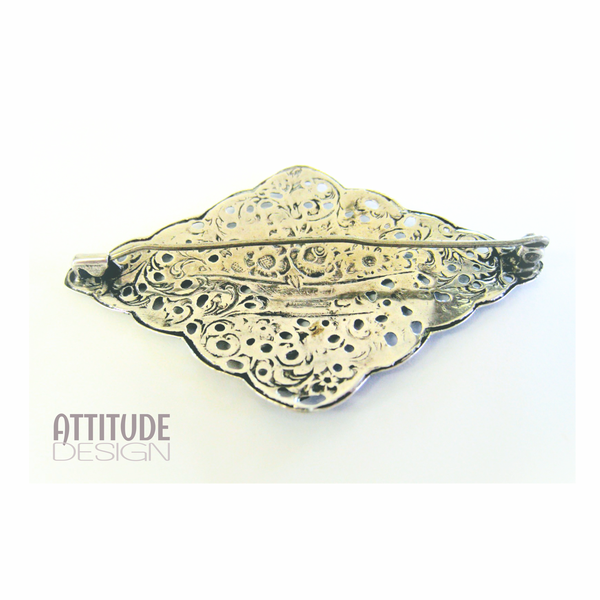 Antique victorian sterling silver brooch picture
