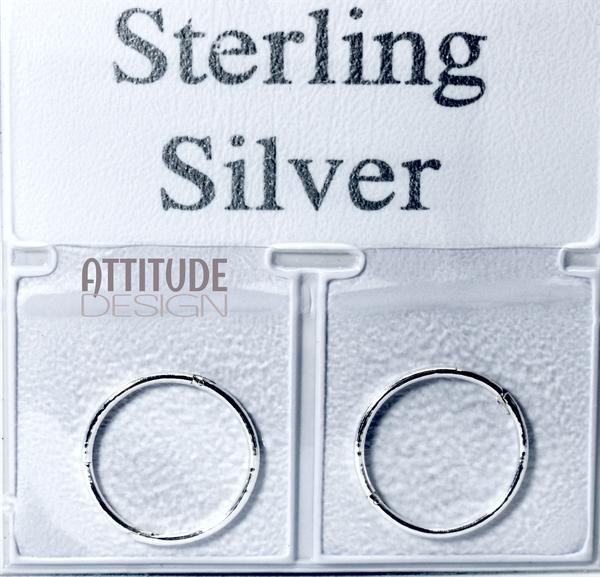 Sterling silver sleeper earrings picture