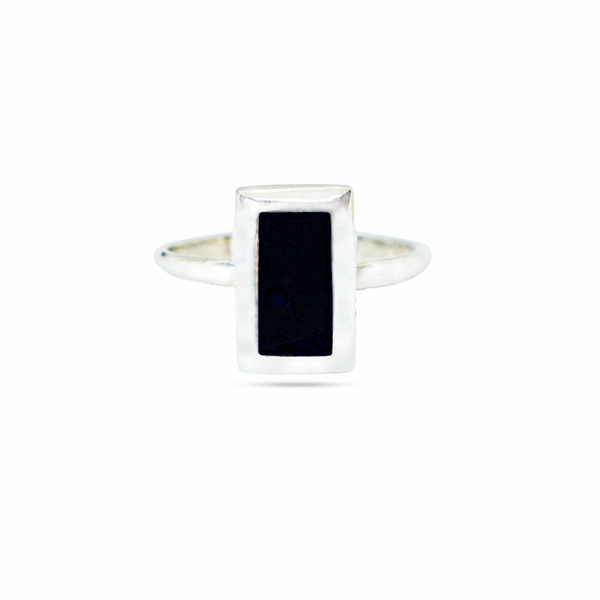 Black onyx sterling silver ring picture