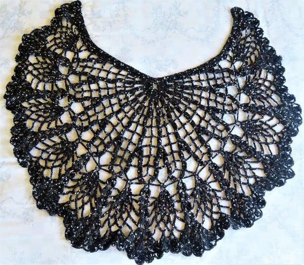 Grey crochet shawl picture