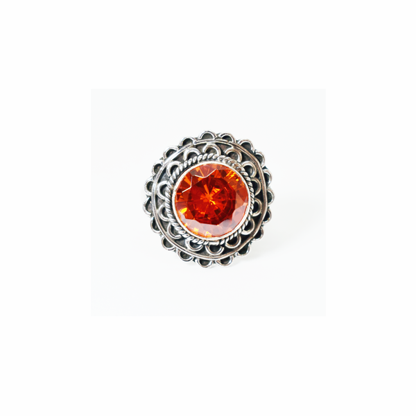 Spicy topaz sterling silver ring picture