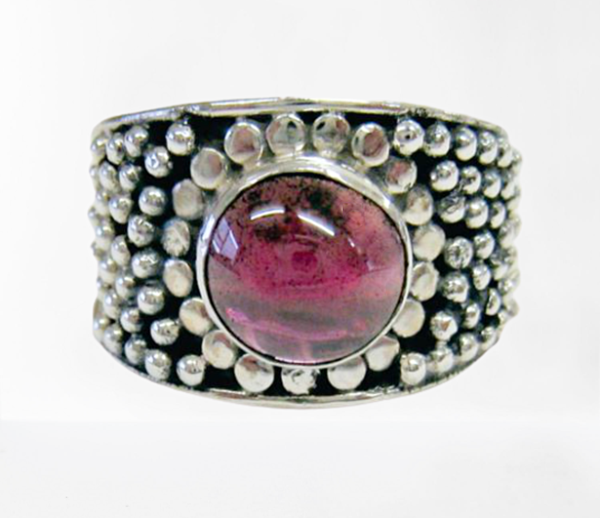 Vintage natural amethyst sterling silver ring picture