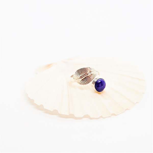 Lapis lazuli sterling silver ring picture