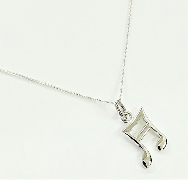 Sterling silver music note necklace picture