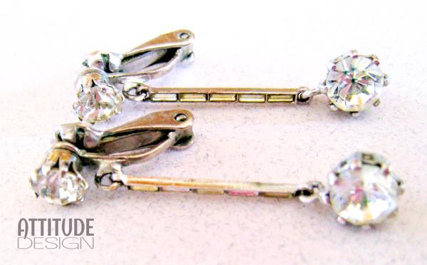 Art deco brooch & earring set picture