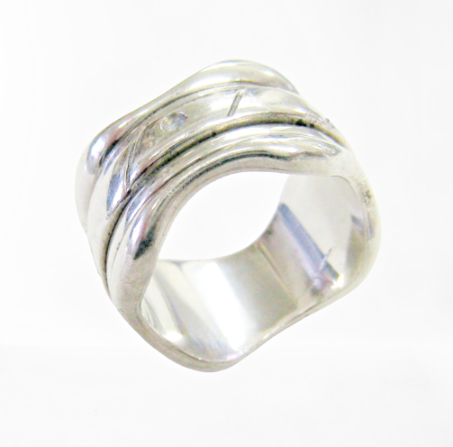 Vintage spinner sterling silver ring picture
