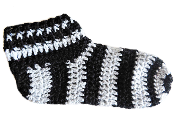 Adult striped booties -  size 7 picture