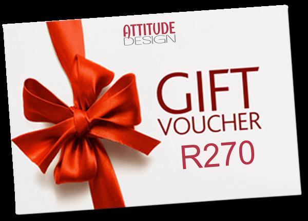 R270 attitude design gift voucher picture