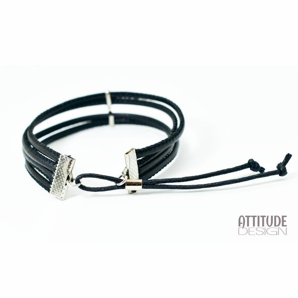 Faux leather unisex bracelet picture