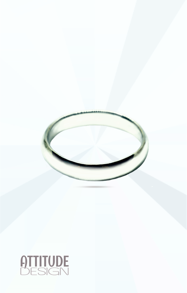 Plain round sterling silver band ring picture