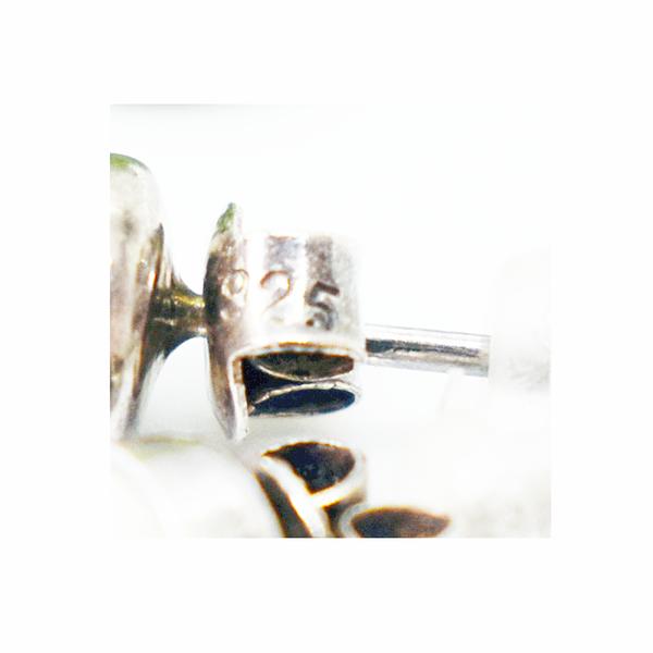 Bone sterling silver stud earrings picture