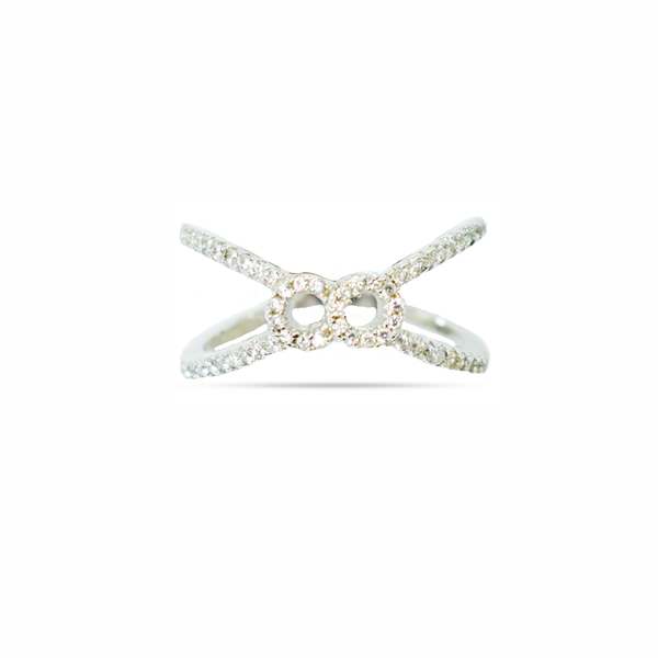 'butterfly' zirconia sterling silver ring picture