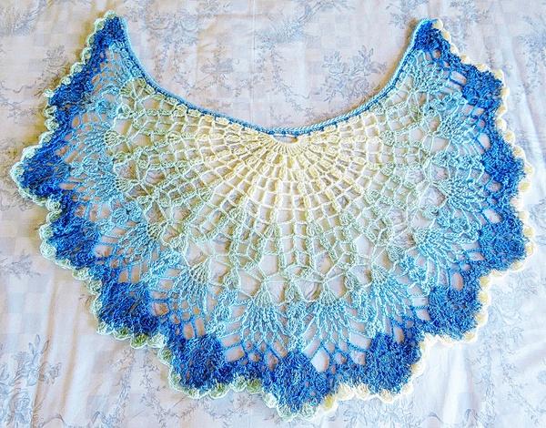 Blues crochet shawl picture