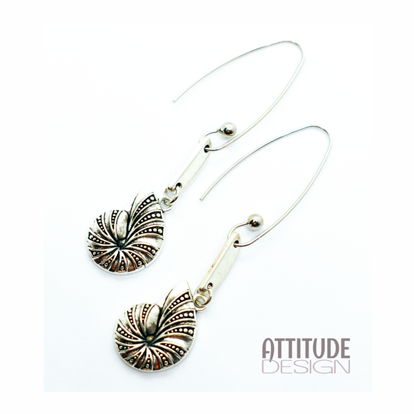 Shell charm earrings picture