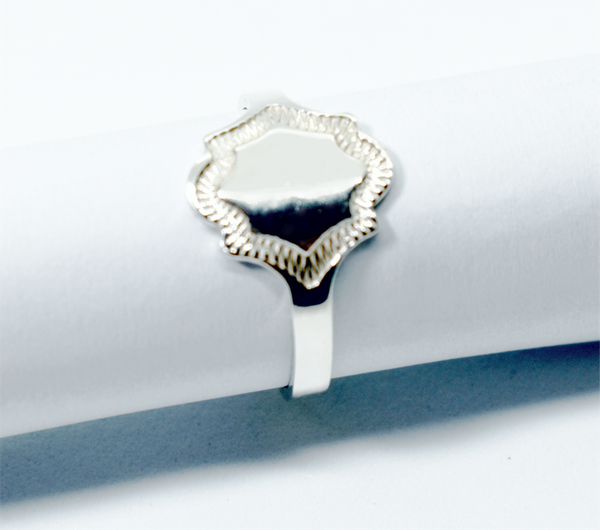 Signet sterling silver ring picture