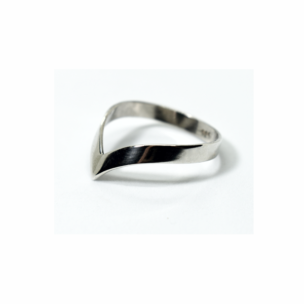 Wishbone sterling silver ring picture