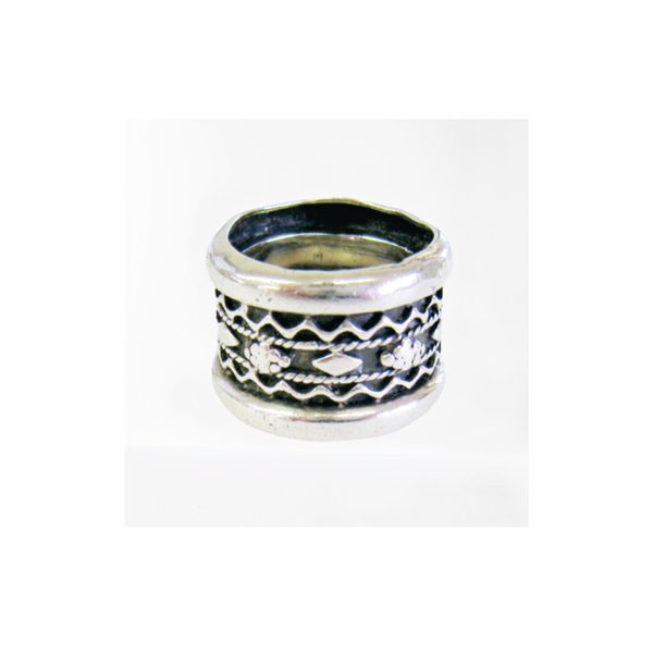 Antique sterling silver wedding ring picture
