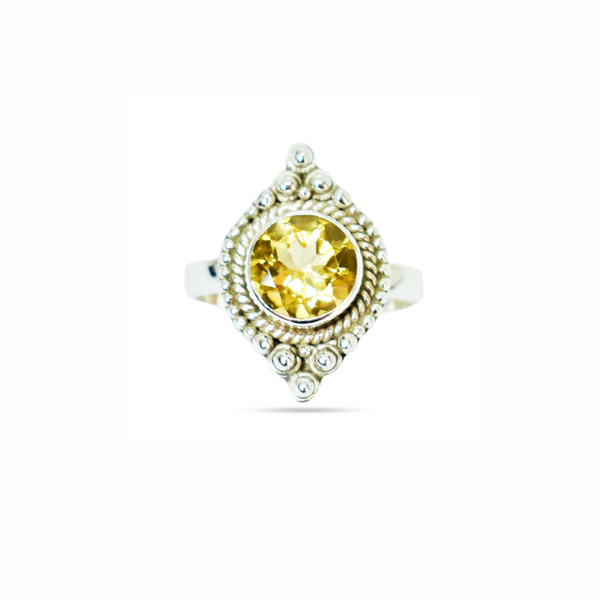 Natural citrine sterling silver ring picture