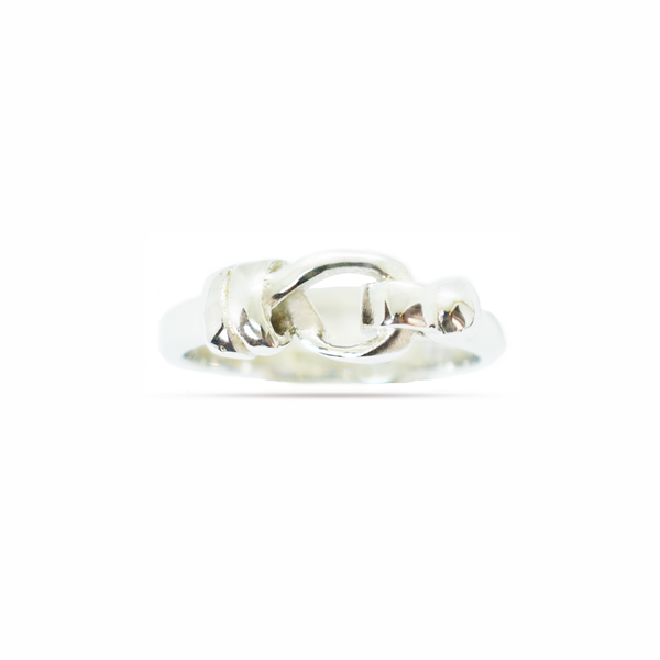 'knot' plain sterling silver ring picture