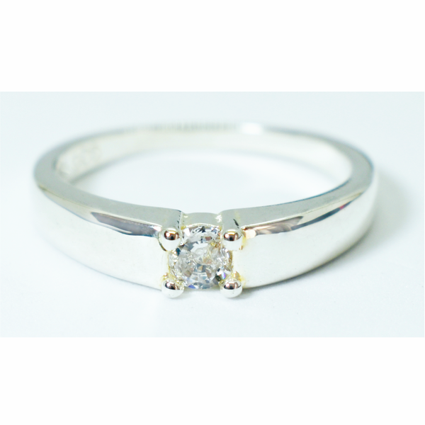 Elegant zircon sterling silver ring picture