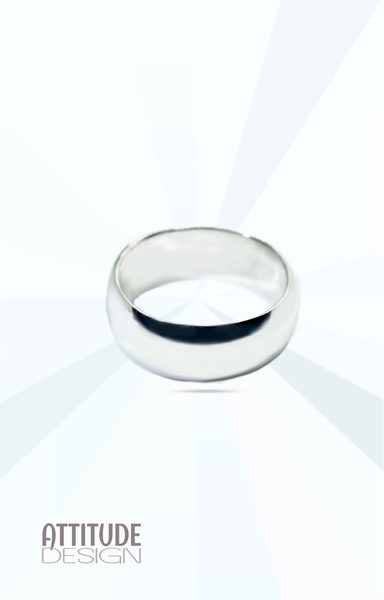 Heavy wide plain sterling silver band ring picture