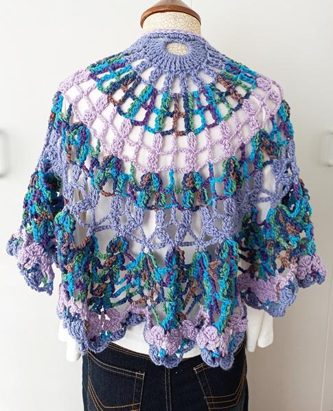 Lilac crochet shawl picture