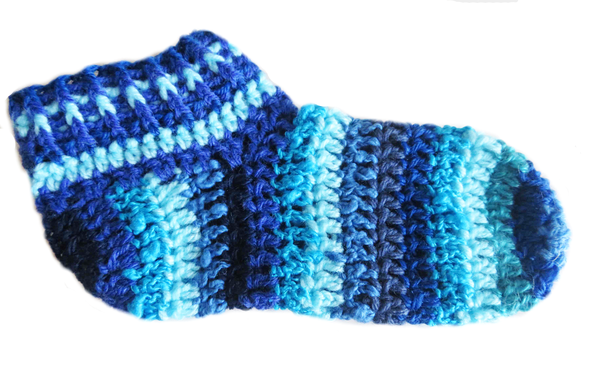 Adult striped booties -  size 5 picture