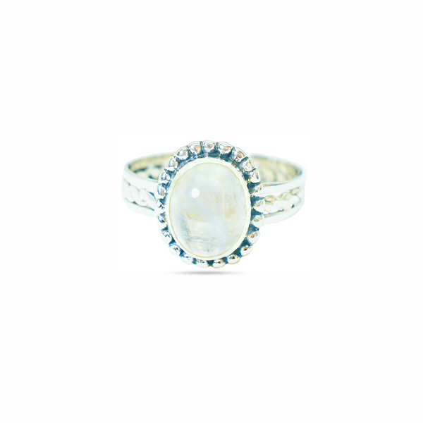 Natural moonstone sterling silver ring picture