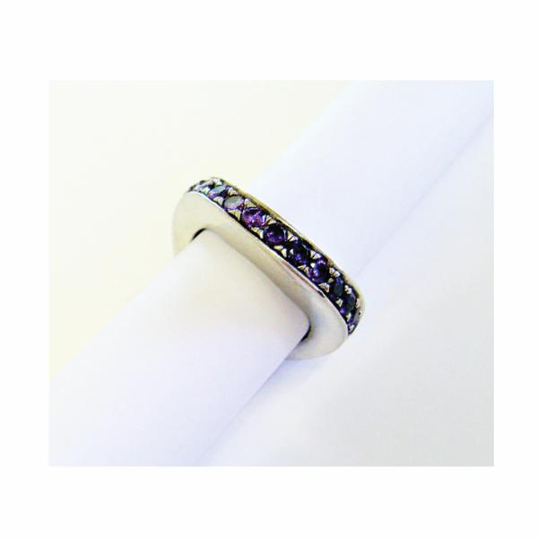 Vintage designer amethyst sterling silver ring picture