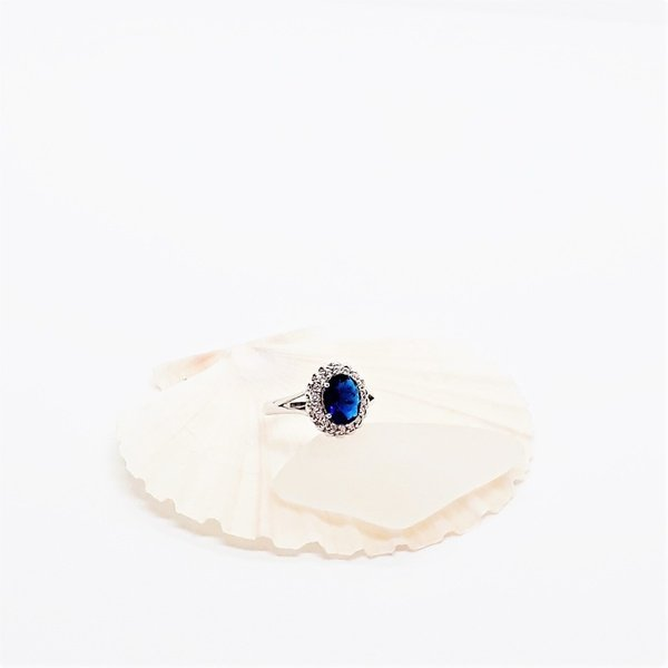 'princess diana' zirconia sterling silver ring picture