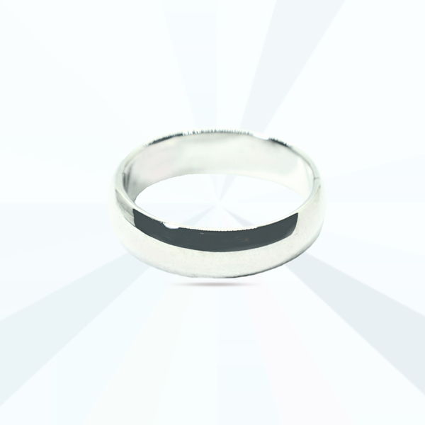 Thick plain round band ring picture