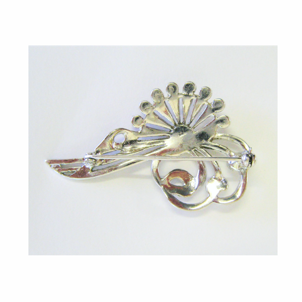 Vintage art deco sterling silver brooch picture