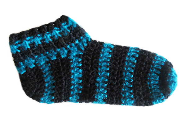 Adult striped booties -  size 6 picture