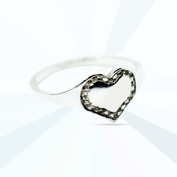 Heart signet ring picture
