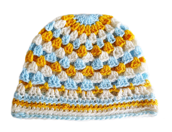 Adult crocheted beanie picture