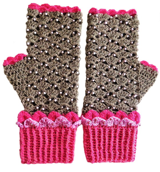 Adult dragon scale mittens – l picture