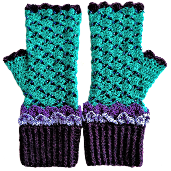 Adult dragon scale mittens – m-l picture