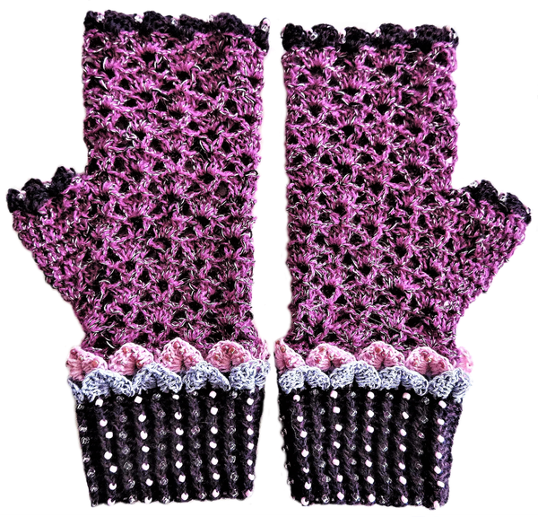 Adult dragon scale mittens – l-xl picture