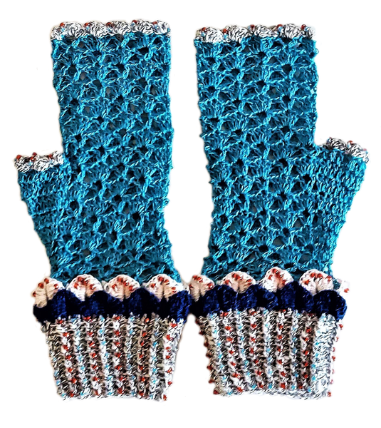 Adult dragon scale mittens – l=xl picture