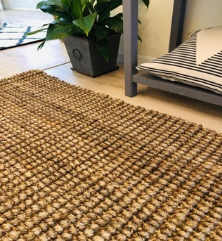 Jute chunky - natural rugs picture