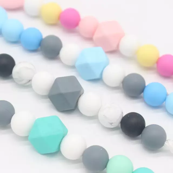 Teething silicone dummy plastic clips picture