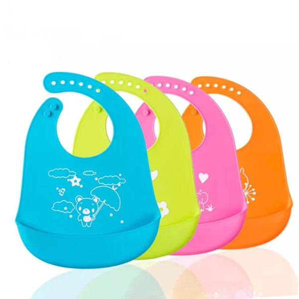 Silicone foldable bibs picture
