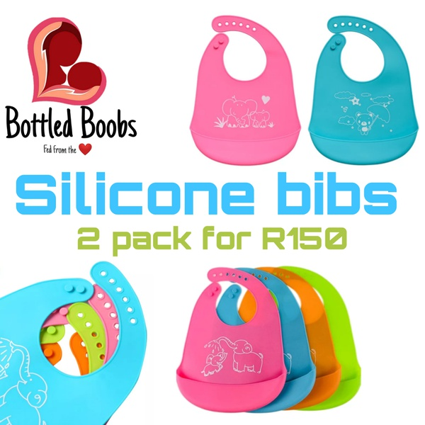 Silicone bibs twin pack picture